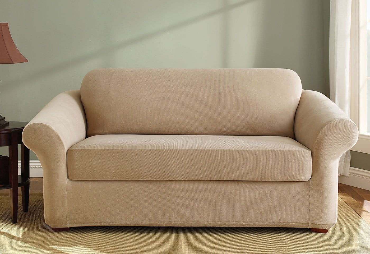 Stretch Pearson Two Piece Sofa Slipcover
