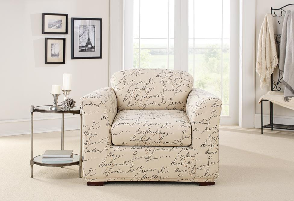 Stretch Pen Pal Two Piece Chair Slipcover