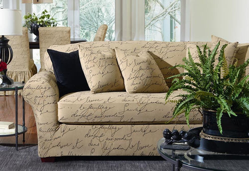 Stretch Pen Pal Two Piece Loveseat Slipcover