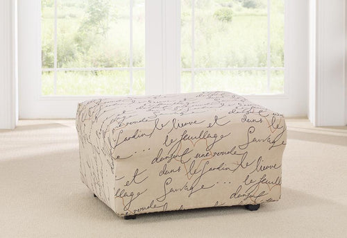Stretch Pen Pal One Piece Ottoman Slipcover