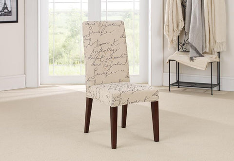 Amazing Stretch Pen Pal Short Dining Chair Slipcover