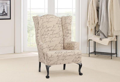 Pleasant Slipcovers For Wingback Chairs Wing Chair Covers Lamtechconsult Wood Chair Design Ideas Lamtechconsultcom
