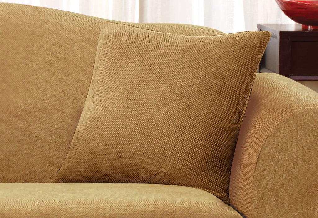 Stretch Pique 18 Inch Square Pillow Cover Surefit