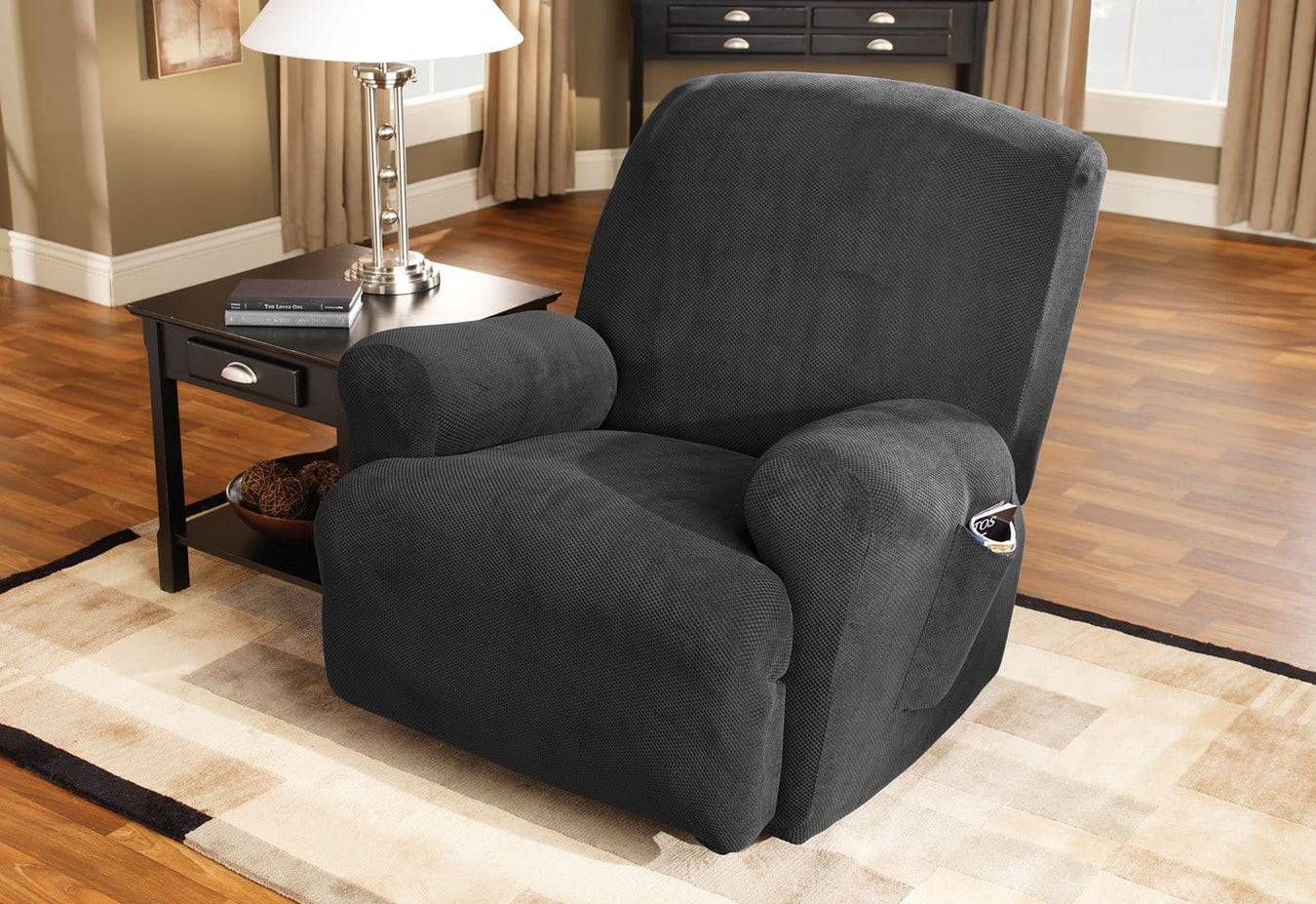 Stretch Pique One Piece Recliner Slipcover