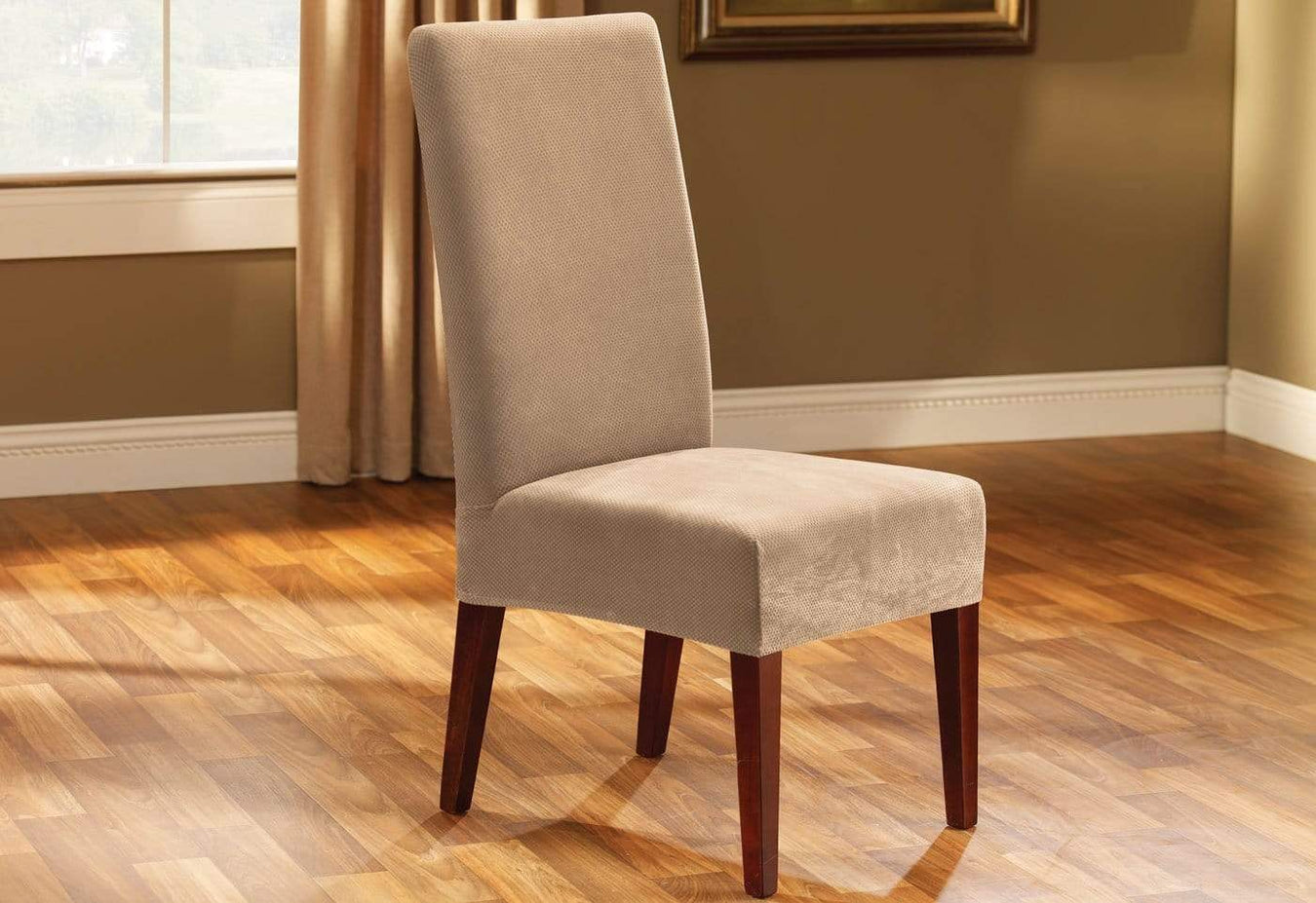 Stretch Pique Short Dining Chair Slipcover
