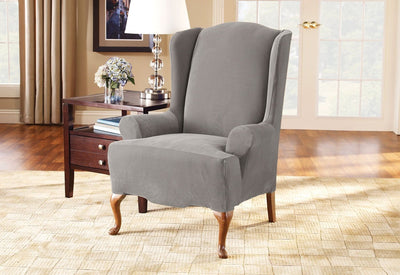 Brilliant Slipcovers For Wingback Chairs Wing Chair Covers Lamtechconsult Wood Chair Design Ideas Lamtechconsultcom