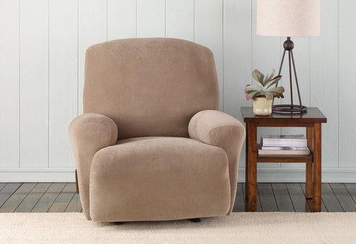 Stretch Mid Weight Corduroy One Piece Recliner Slipcover