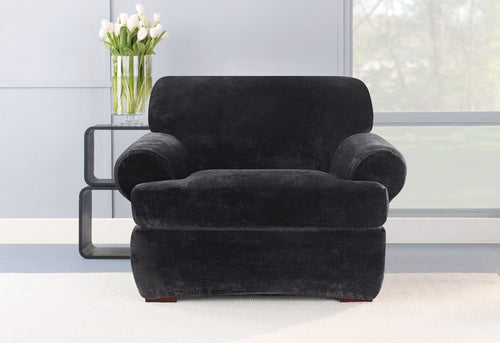 Stretch Plush Two Piece Chair Slipcover