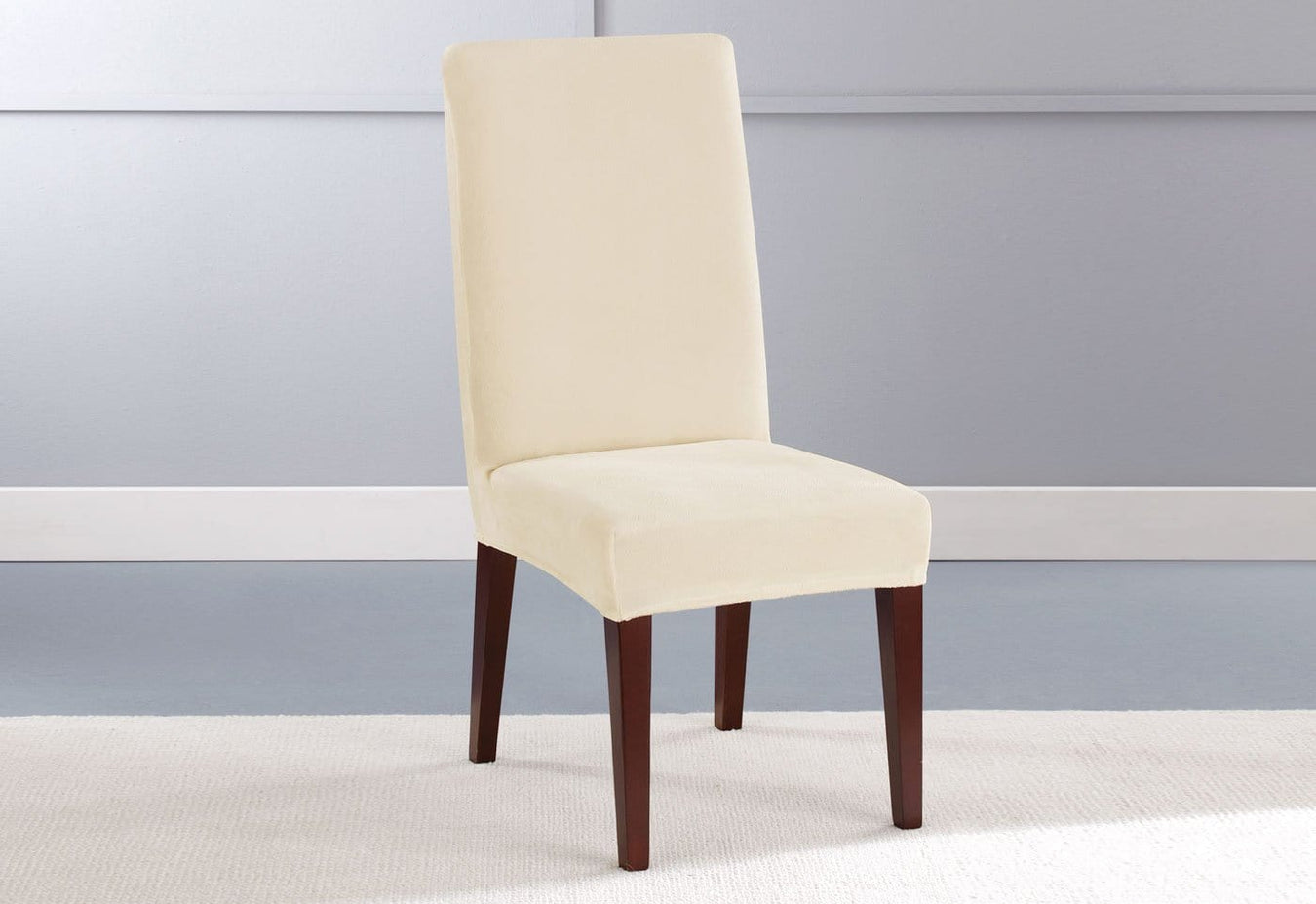 Stretch Plush Short Dining Chair Slipcover