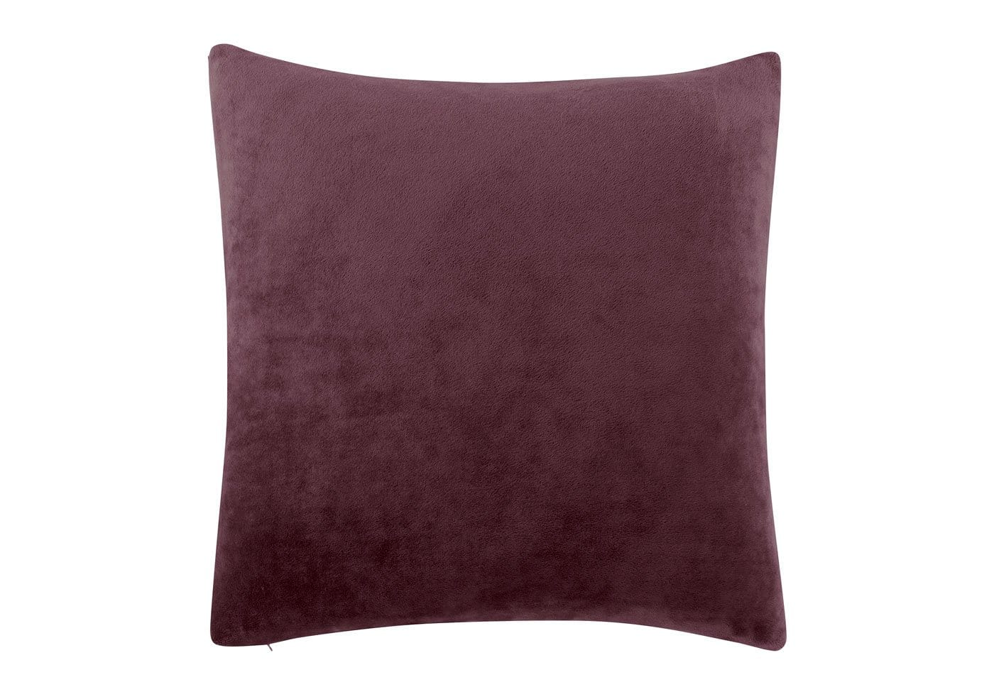 Stretch Plush 18 Inch Square Pillow Cover - 18 x 18 / Mulberry