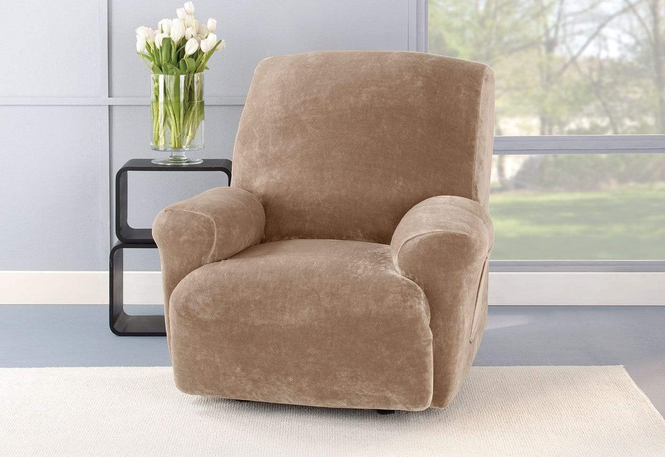 Stretch Plush One Piece Recliner Slipcover | Recliner