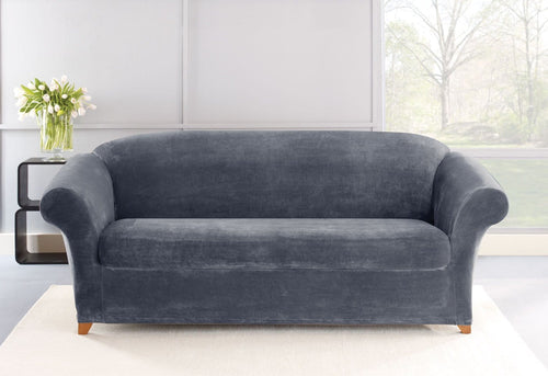 Stretch Plush Two Piece Sofa Slipcover