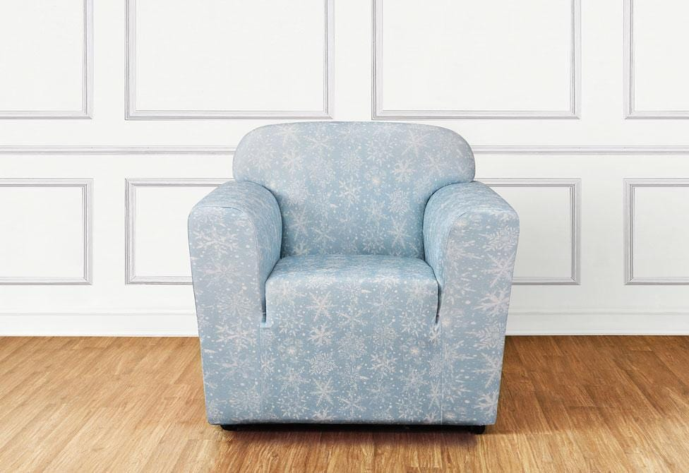 Stretch Snowflake One Piece Chair Slipcover