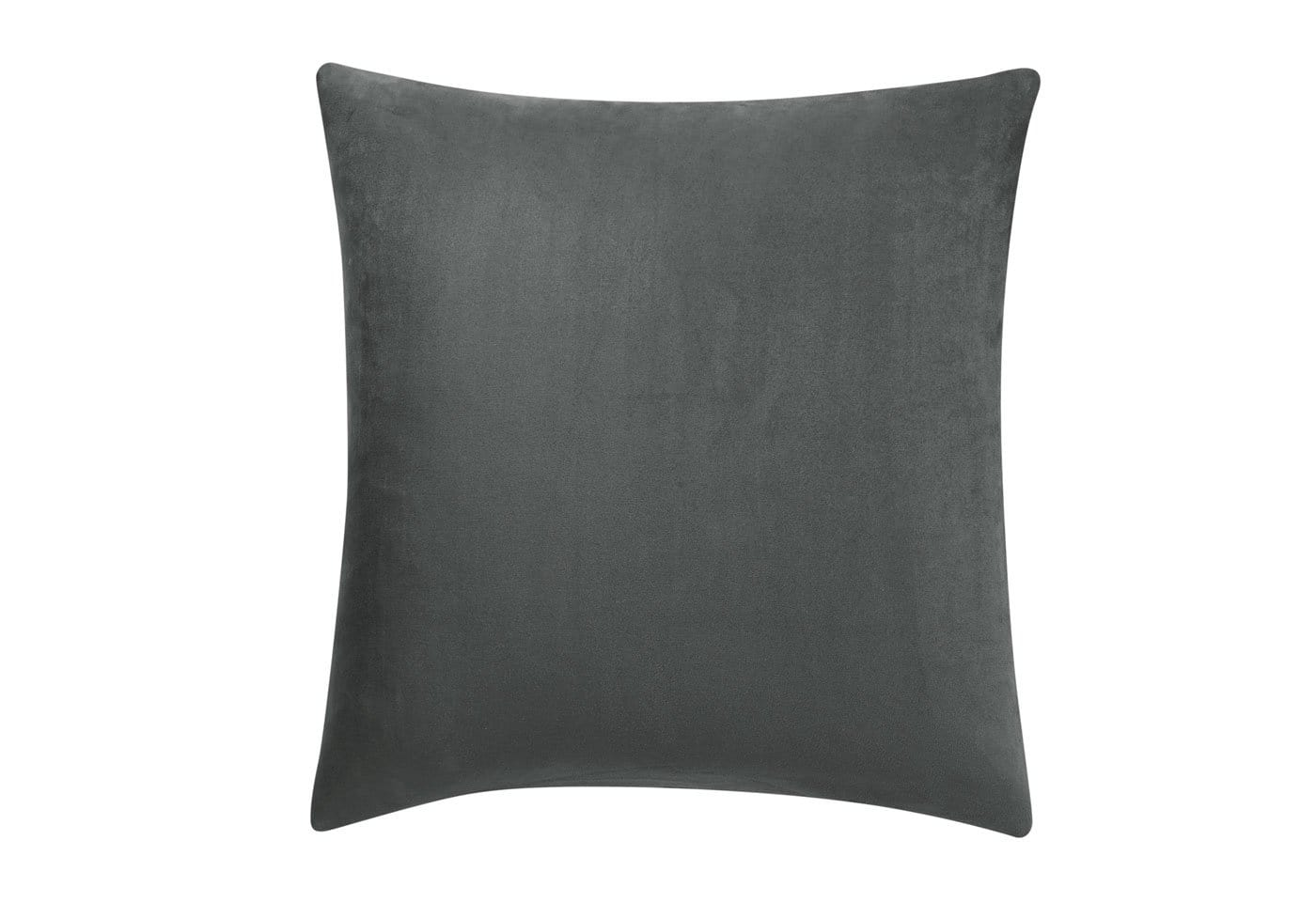 Stretch Suede 18 Inch Square Pillow Cover - 18x18 / Carbon Gray