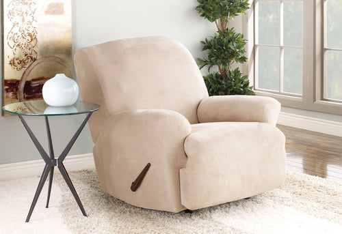 Stretch Suede One Piece Recliner Slipcover