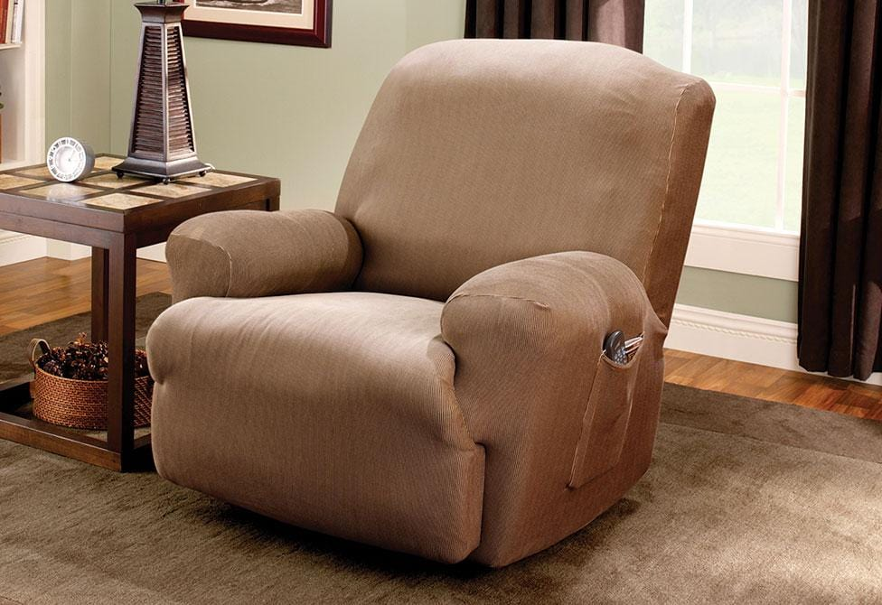 Stretch Stripe One Piece Recliner Slipcover