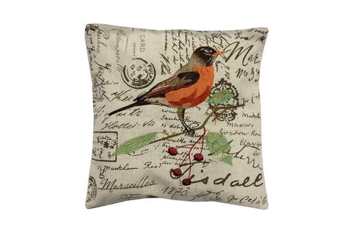 Terry Bird   18 inch square Decorative Pillow