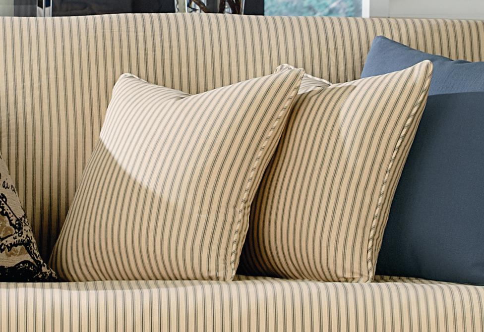 Ticking Stripe 18 Inch Square Coordinating Pillow