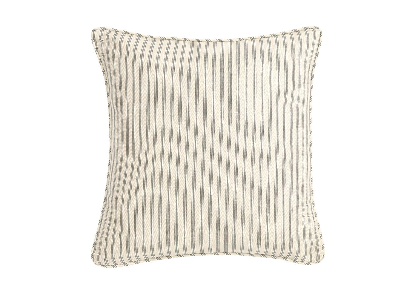 Ticking Stripe 18 Inch Square Pillow Cover