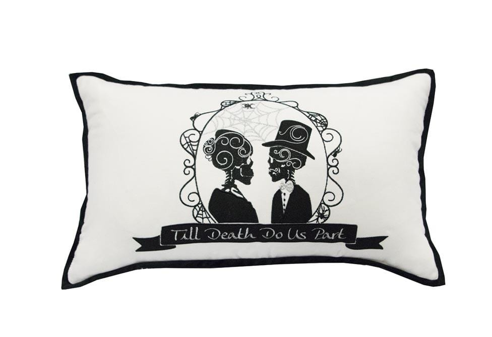 Till Death Do 14 Inch X 24 Inch Decorative Pillow