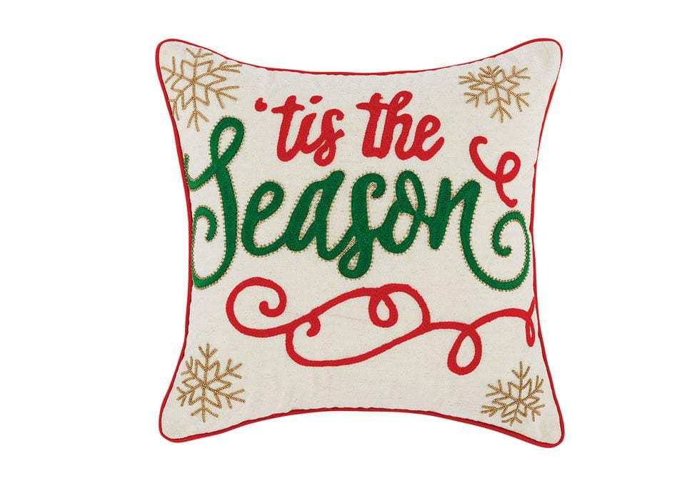 Tis The Season 20 Inch Square Decorative Pillow
