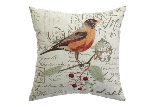 Tracy Bird 18 Inch Square Decorative Pillow