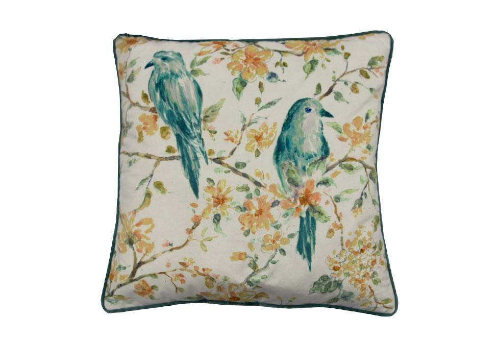 Tree Top Bird  18 inch square Decorative Pillow