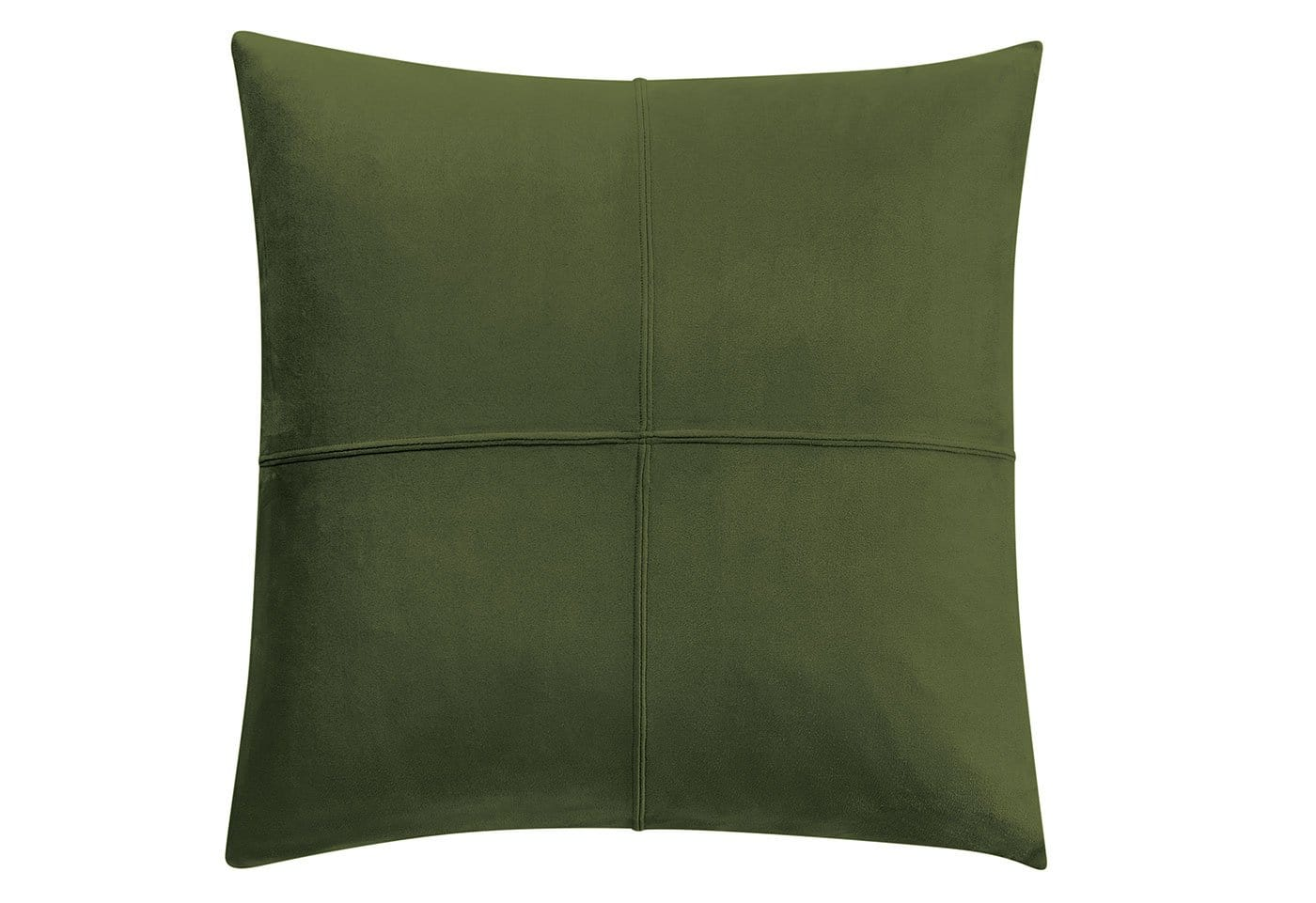 Ultimate Stretch Suede 20 Inch Square Pillow Cover - 20 x 20 / Olive