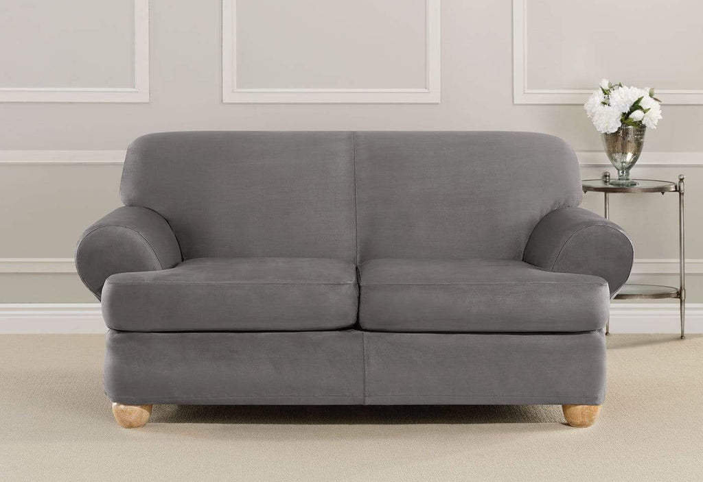 Ultimate Heavyweight Stretch Suede Three Piece Loveseat