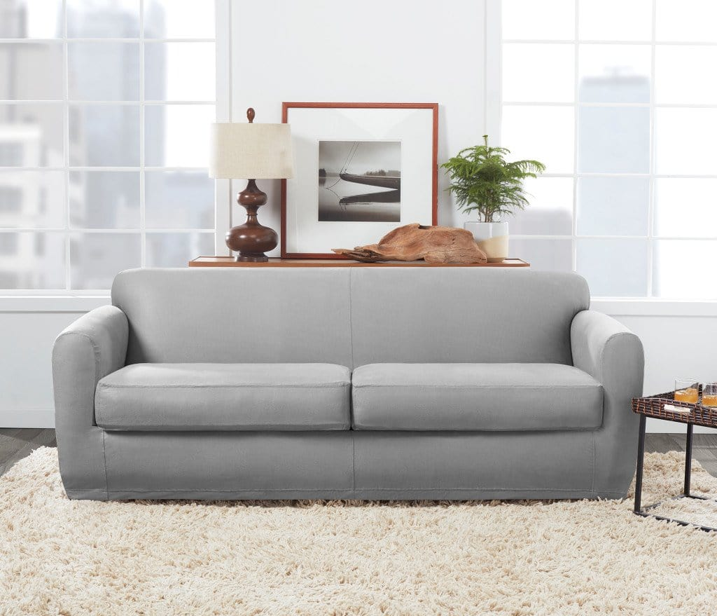 Admirable Ultimate Stretch Leather Three Piece Sofa Slipcover Form Fitting Individual Cushion Covers Machine Washable Ibusinesslaw Wood Chair Design Ideas Ibusinesslaworg