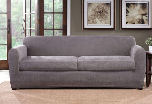 Ultimate Stretch Chenille Three Piece Sofa Slipcover