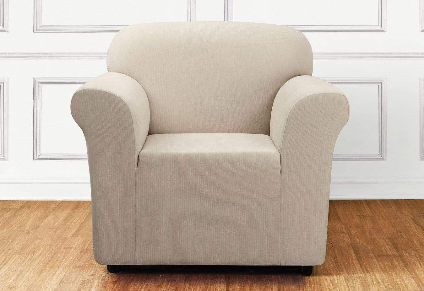 Ultimate Stretch Chenille One Piece Chair Slipcover