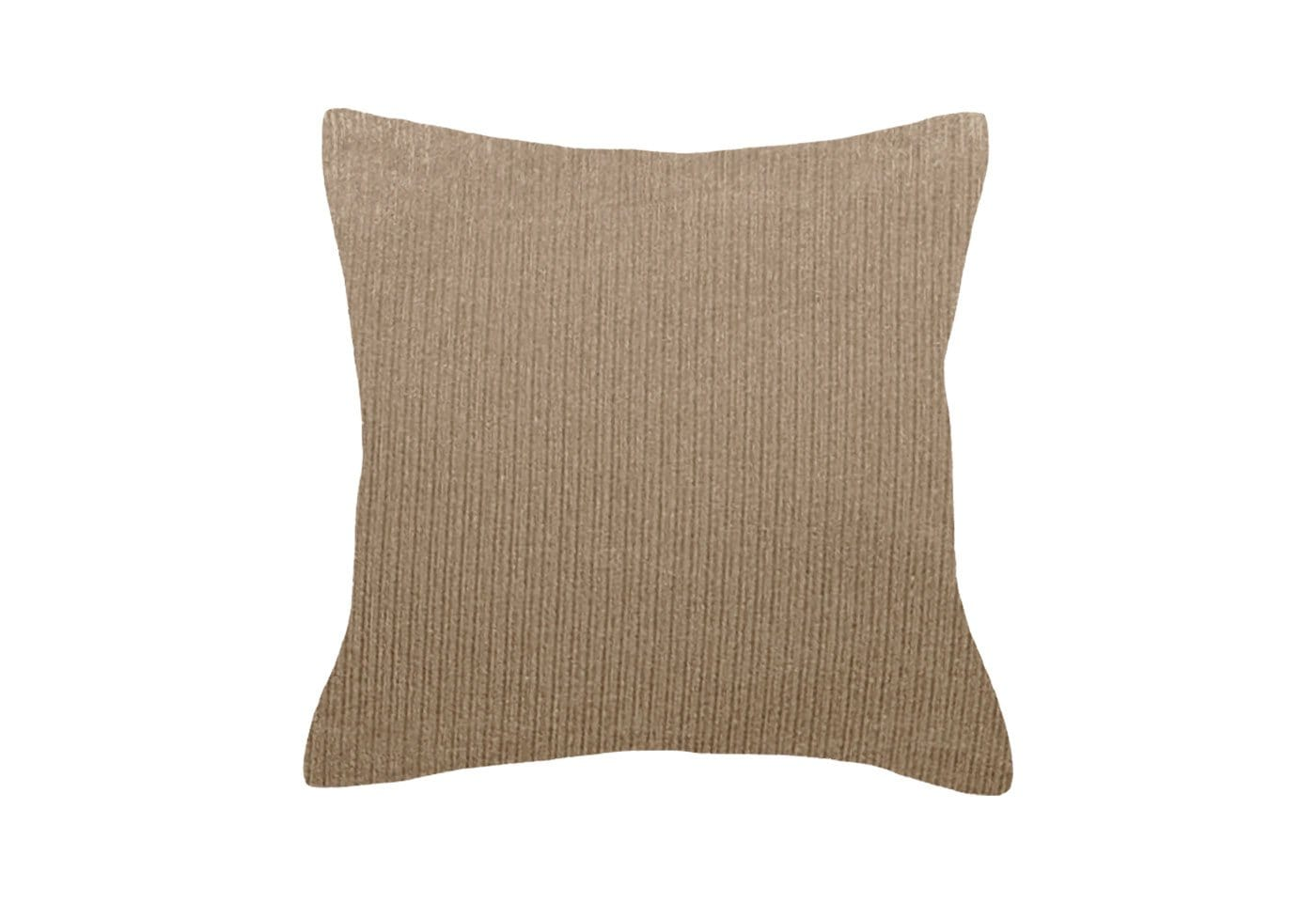 Ultimate St Chenille Ind 18 Inch Square Pillow Cover - 18x18 / Tan