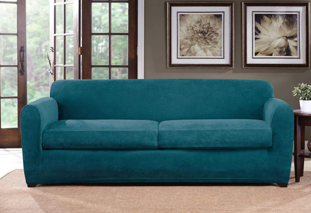 Ultimate Stretch Chenille Three Piece Sofa Slipcover Surefit