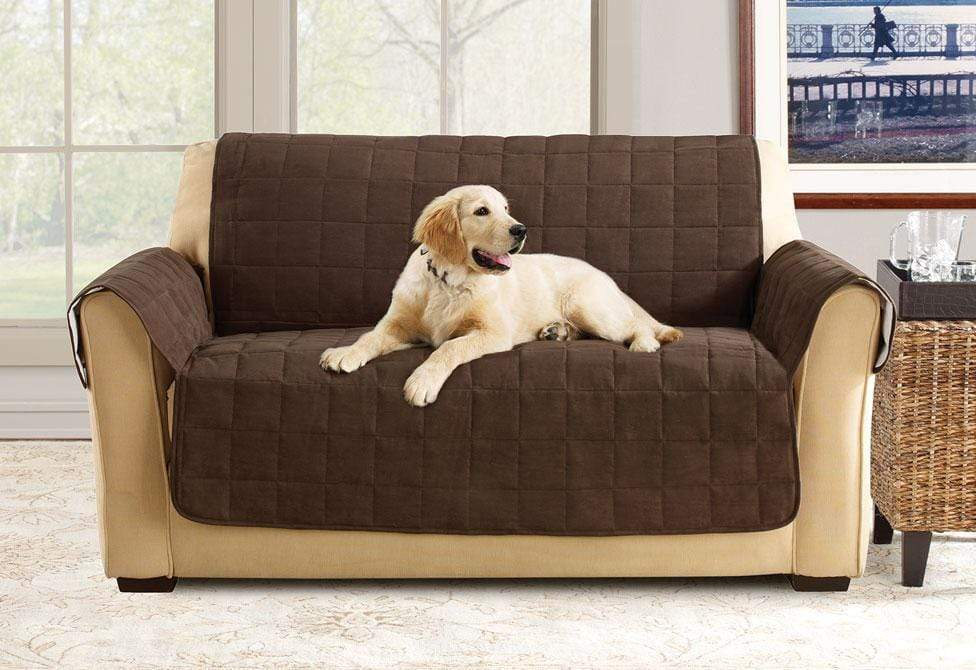 Furniture Flair Loveseat Furniture Cover 100% Polyester Pet Furniture Cover Machine Washable - Loveseat / Chocolate
