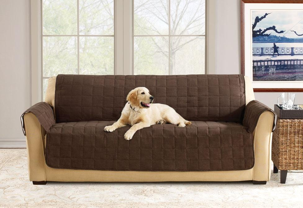 Soft Suede Sofa Furniture Cover 100% Polyester Pet Furniture Cover Machine Washable - Sofa / Chocolate