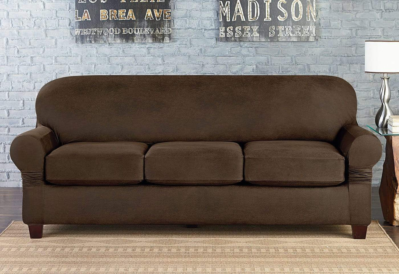 Vintage Leather Four Piece Sofa Slipcover | Universal Box ...