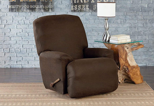 Vintage Leather One Piece Recliner Slipcover