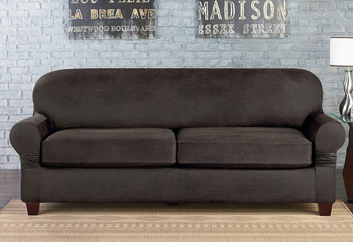Sure Fit Vintage Leather Sofa Cover