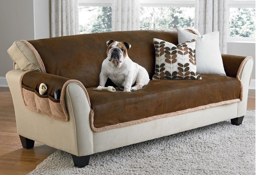 Vintage Leather Sofa Furniture Cover | Brown Sofa Cover ...