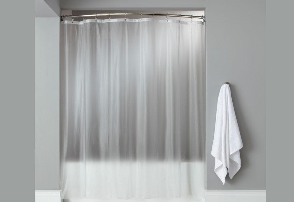 Vinyl Hooked Shower Curtain