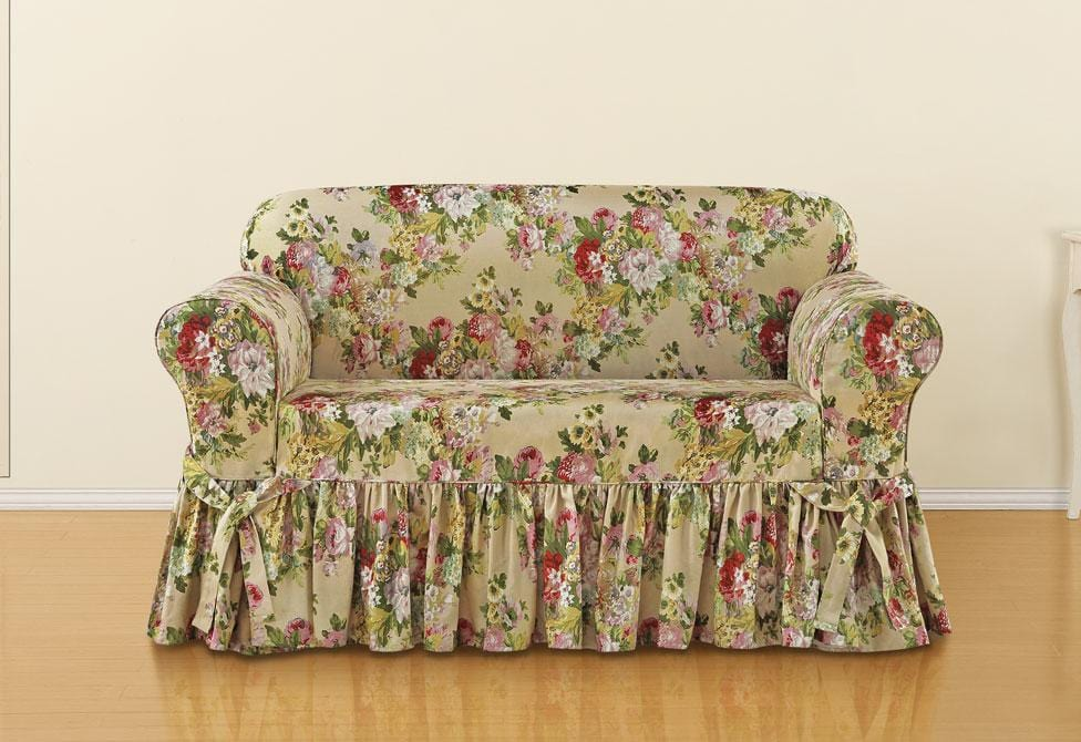 Stupendous Juliet By Waverly One Piece Loveseat Slipcover Slipcovers Andrewgaddart Wooden Chair Designs For Living Room Andrewgaddartcom
