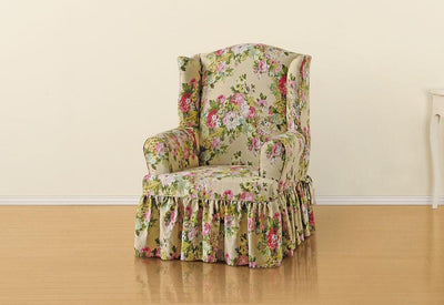 Strange Slipcovers For Wingback Chairs Wing Chair Covers Machost Co Dining Chair Design Ideas Machostcouk