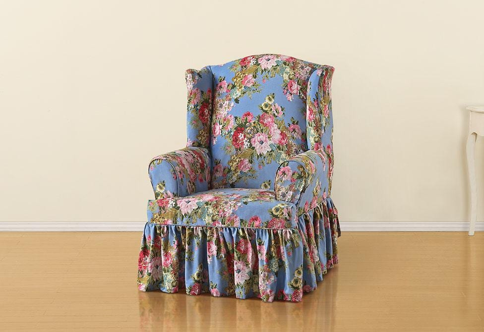 Juliet By Waverly One Piece Wing Chair Slipcover SureFit