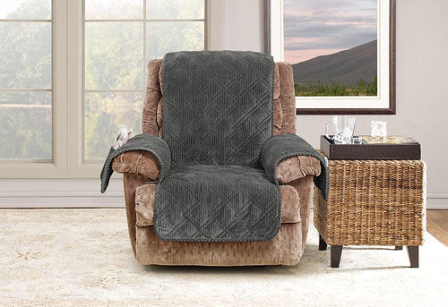 Wide Wale Corduroy Recliner Furniture Cover