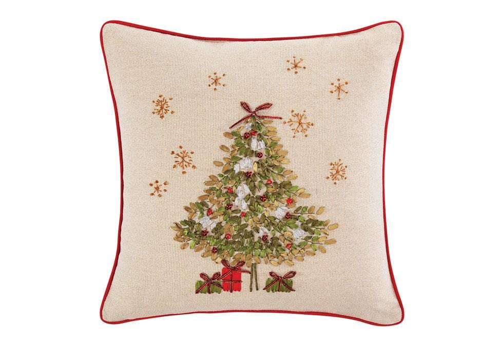 Xmas Tree 18 Inch Square Decorative Pillow