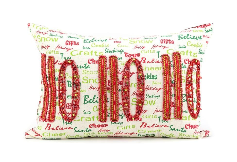 Xmas Ho Ho 13 Inch X 18 Inch Decorative Pillow