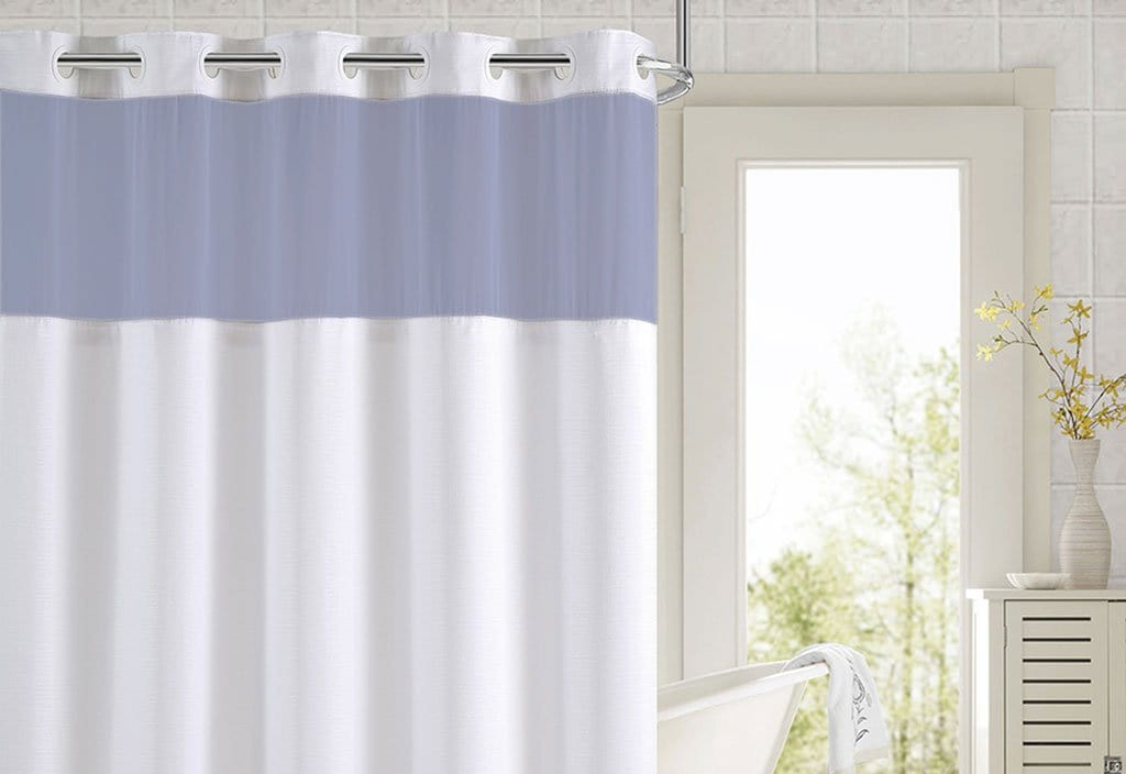 Hookless® Color Block Shower Curtain - 71 x 74 / Blue