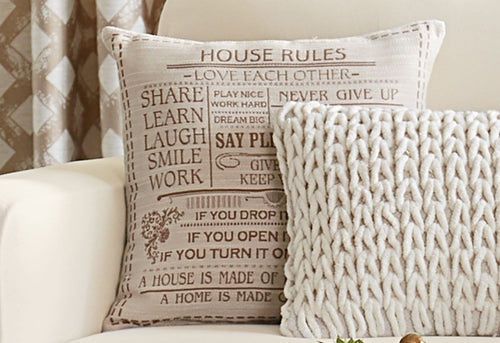 House Rules 18x18 Decorative Pillow