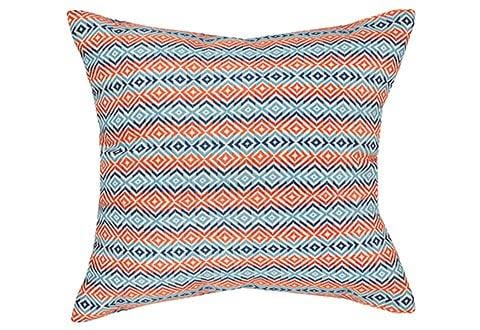 Mastermind 20 Inch Square Decorative Pillow - 20 x 20 / Orange